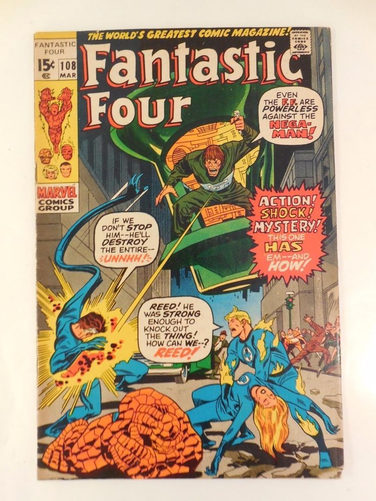 #Vintage marvel #comics fantastic four #108 1st app #nega-man last kirby issue 19,  View more on the LINK: 	http://www.zeppy.io/product/gb/2/272402451977/