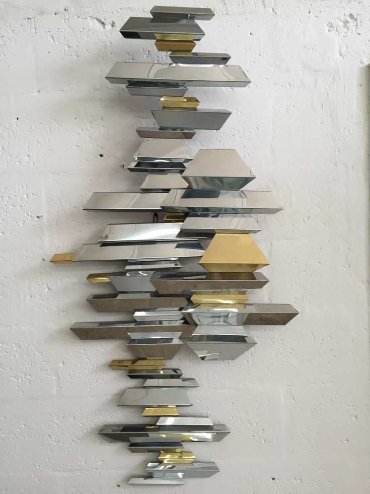 Mid century retro vintage curtis jere brass and chrome wall sculpture pinned by 360 modern