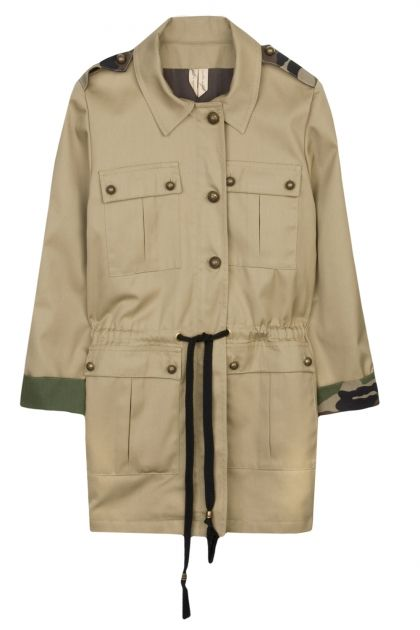 Nadia Rapti Beige Militaire Felt Jacket _ Fashionnoiz.com #NadiaRapti #Fashionnoiz