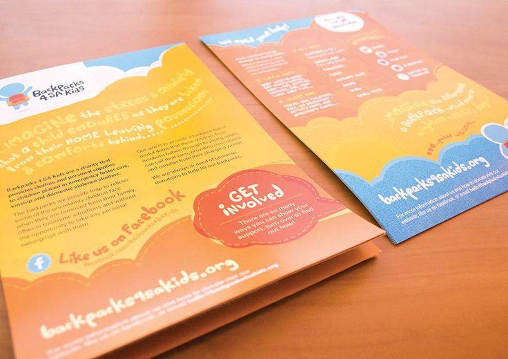2012 Recipient: Backpacks 4 SA Kids   Project: Flyer Design   www.backpacks4sakids.org #quisk #design #adelaide #southaustralia #bigpicture #giveback #sakids