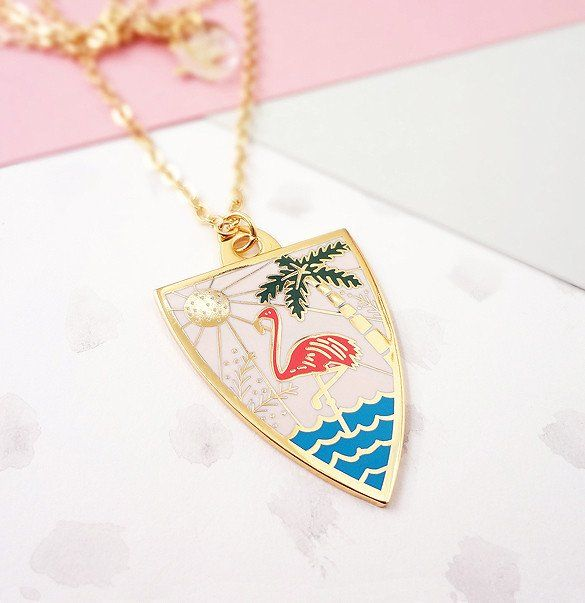 Bonbi Forest Personalised Summer Enamel Pendant   Jewellery by Lee May Foster-Wilson. Click through to treat yourself! (Little tip: Receive 15% off if you sign up to our newsletter first!)