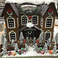 The Solvang Bakery: Custom Personalized Christmas Gingerbread Houses with Pictures of Gingerbread Houses, Solvang CA