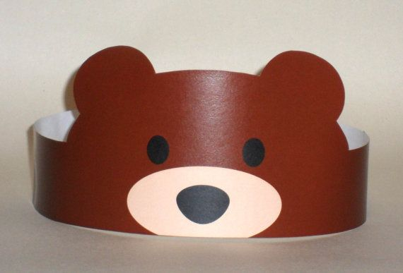 Create your own Bear Crown! Print, cut & glue your bear crown together & adjust to fit anyones head! • A .pdf file available for instant