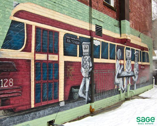 Wall Art in Leslieville, Toronto