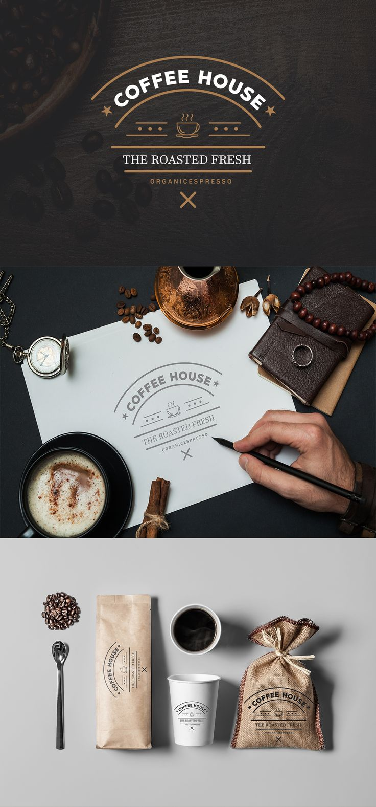coffee house logo branding