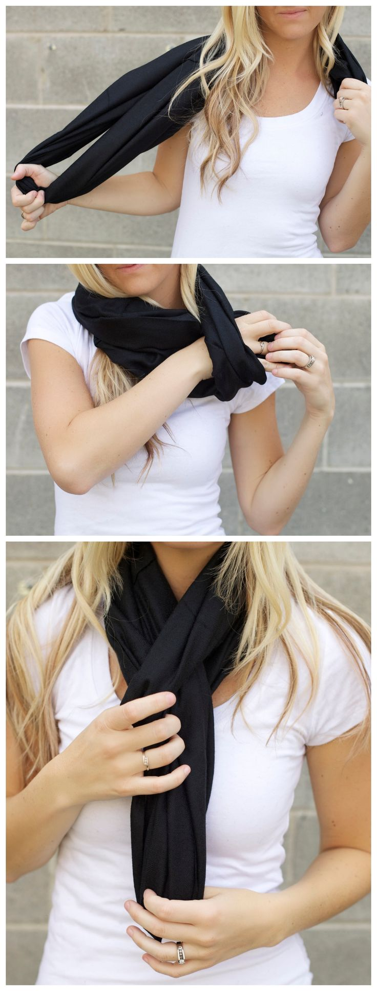 Another super easy cute way to wear your infinity scarf!