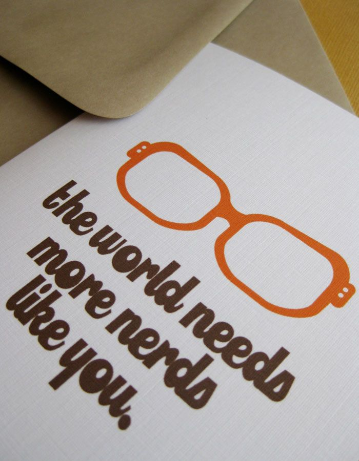 Nerd Congrats Card: Perfect for the nerd in your life who is off doing great things.