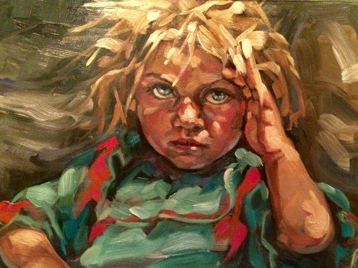 Refugee. Oil. 2015. Kathryn Kaiser, Verity Blue Studio #portrait, #artist, #Syrian #refugee, #crisis, #contemporary #art