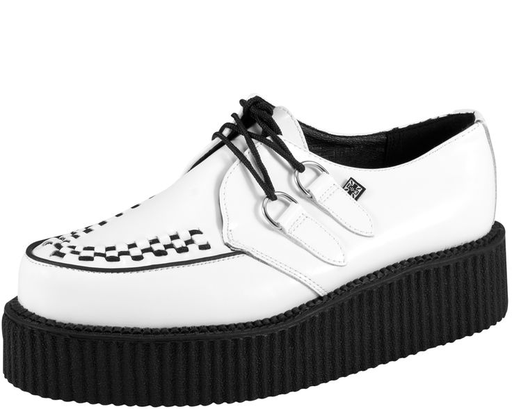 White with Black Mondo Sole Creeper - T.U.K. Shoes | T.U.K. Shoes