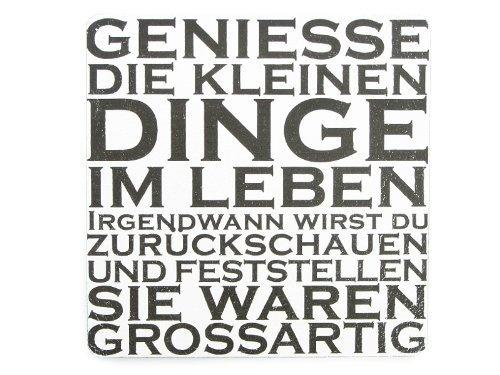 XL Vintage Shabby Deko Schild Türschild GENIESSE DIE KLEINEN DINGE Holzschild: Amazon.de: Küche & Haushalt