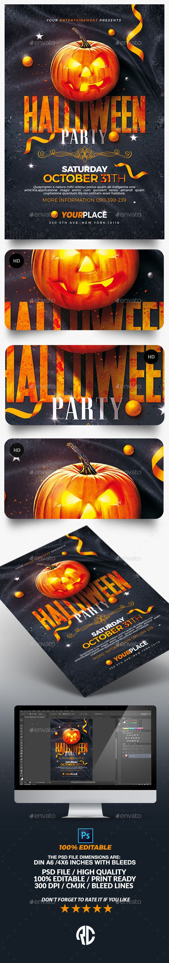 414 best Halloween Flyer Template images on Pinterest