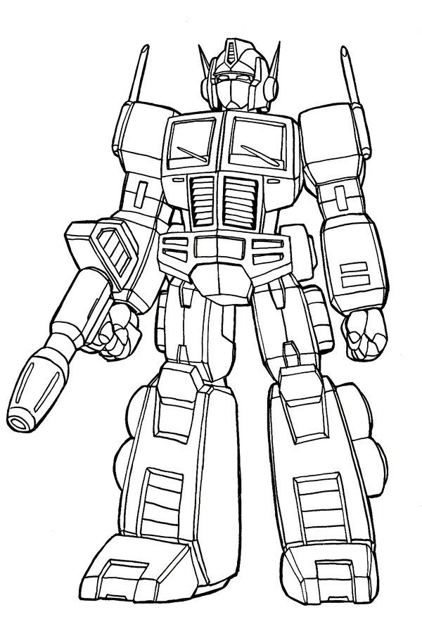Optimus Prime Coloring Page Unique
