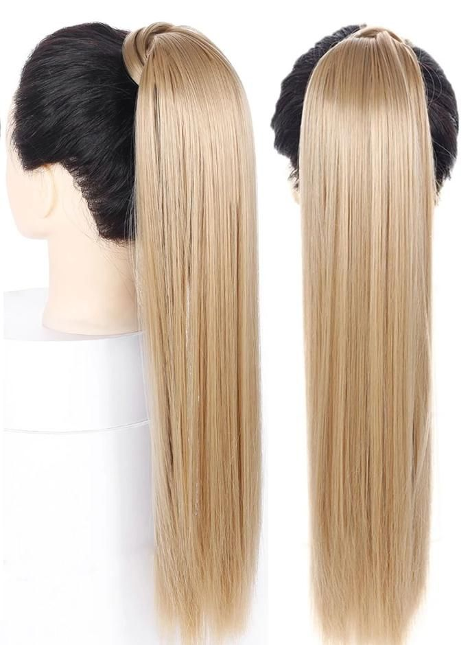 Wrap Around Synthetic Ponytail Hair Extension Long Clip In Hair