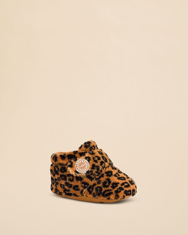 Ugg Australia Girls' Bixbee Leopard Terry Cloth Booties - Baby, Walker