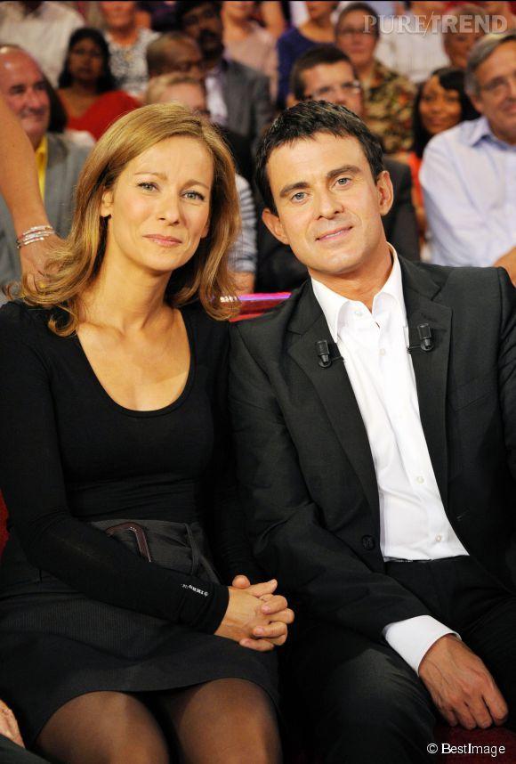 Manuel Valls et son épouse, Anne Gravoin. Un couple très médiatisé.