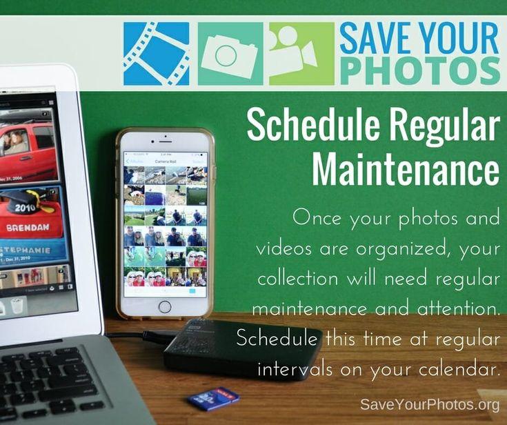 Protect your family's photos and schedule regular maintenance. #saveyourphotos