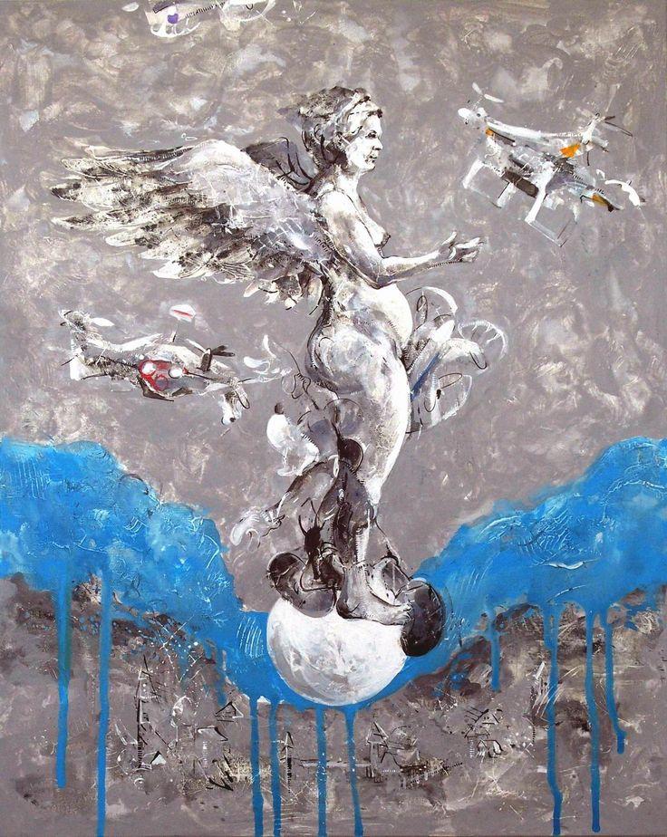 Janusz Tyrpak#Time to Albrecht Durer-The Nemesis#100x80cm