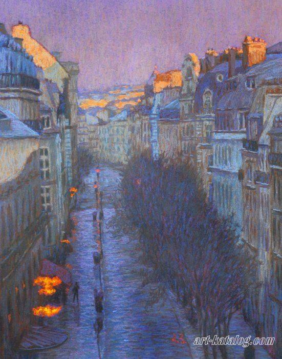 Улица Монмартр, Париж, Алексей Зуев