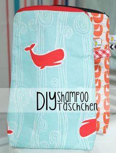 DIY Shampoo Täschchen | Schnittmister Lieselotte Hoppenstedt | waseigenes.com DIY Blog | sewing | nähen | selbermachen