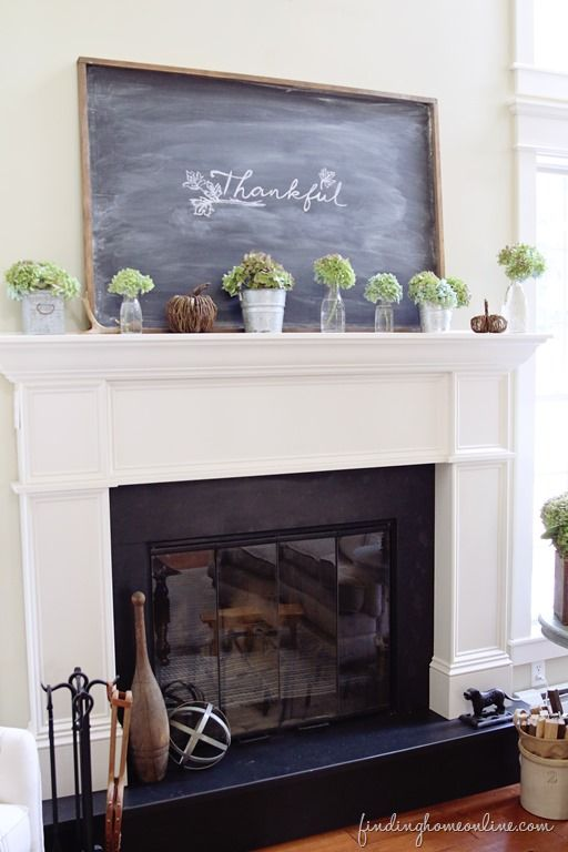 Simple Fall Mantel & Thoughts on Decorating