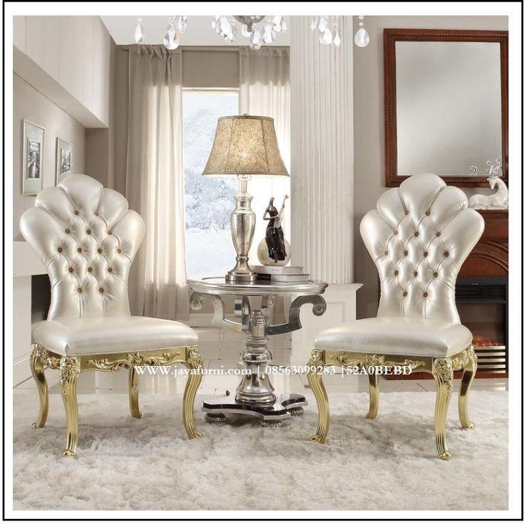 Kursi Teras Ukir Mewah Gold Sabrina Desain Unik dan mewah dari set furniture…