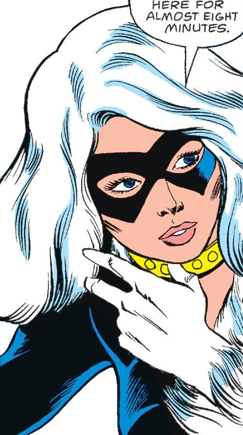 #BlackCat (Marvel Comics) (Early) face closeup. From http://www.writeups.org/black-cat-felicia-spider-man-marvel-comics-1/