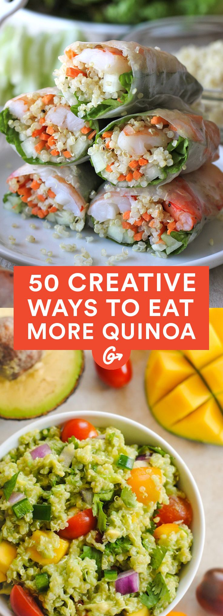 It may no longer be the international year of quinoa, but it's safe to say that quinoa mania is here to stay #creative #quinoa #recipes http://greatist.com/eat/creative-ways-to-eat-quinoa                                                                                                                                                                                 Más