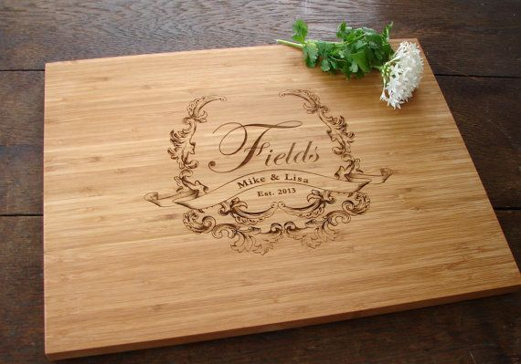 Personalized Cutting Board Cheese Board by TheCuttingBoardShop, $35.00