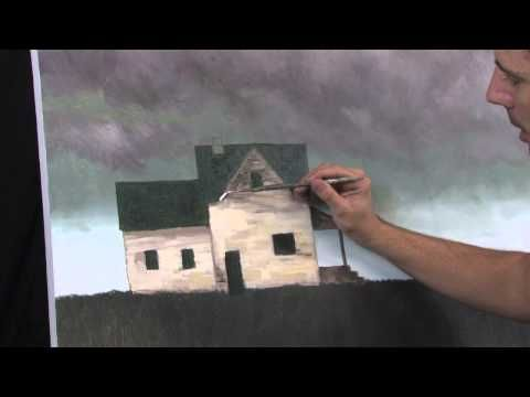 ▶ Incoming Winds, A time lapse acrylic stormy landscape painting by Tim Gagnon - YouTube