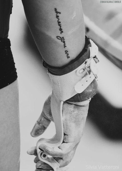 """Wherever you are, I will go..."" (Erika Fasana)"