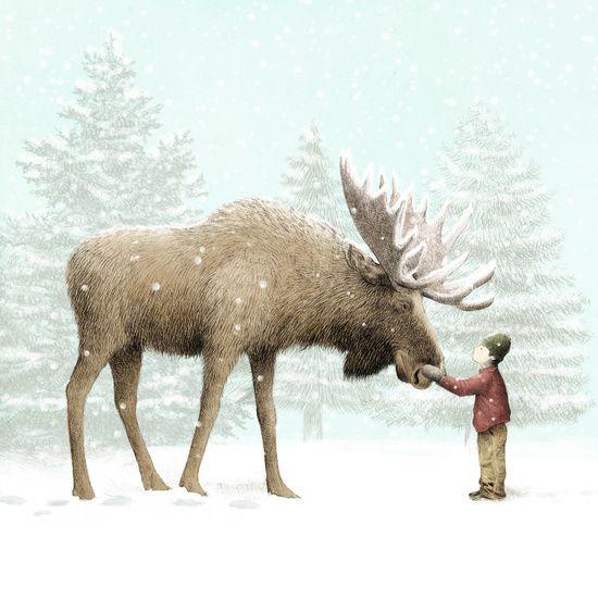 Winter Moose                                                                                                                                                                                 More