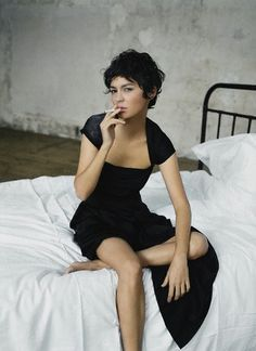 audrey tautou - love the slightly longer back