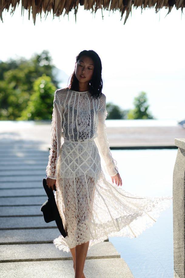 Zimmermann Feminine Dresses New York Fashion Week: Zimmerman White Crinoline Lace Dress