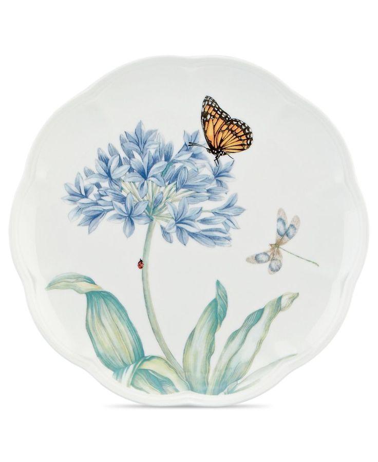 Lenox Dinnerware, Butterfly Meadow Blue Salad Plate