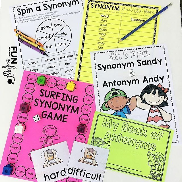 This synonym and antonym activity packet is perfect for teaching your students these important skills.