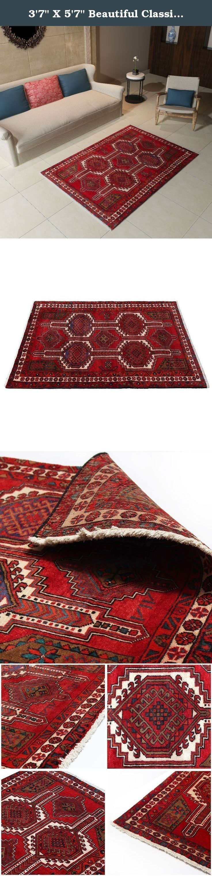 "3'7"" X 5'7"" Beautiful Classic Rug traditional Design from 1950s , Antique Rug Made of Merino Wool with Organic Colors, Oriental Bohemian Oushak Carpet,Code:R0101237, FBA (PS:42x9x9). Traditional designed hand woven rug which comes from pure lamb wool sheared at the Beginning of spring and a mixture of organic colors. It would make your place more attractive with its Wonderful color. Really traditional and Classic design. As an advantages of years of being in this business our price is…"