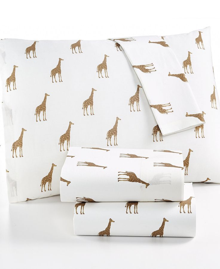 CLOSEOUT! Whim by Martha Stewart Collection Novelty Print Cotton Percale California King Sheet Set, Only at Macy's - Sheets - Bed & Bath - Macy's