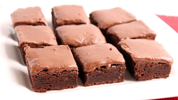 Glazed Chewy Brownies Recipe - Laura Vitale - Laura in the Kitchen Episo...