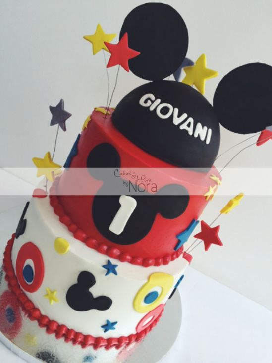 Mickey Mouse buttercream cake   Cakes and More by Nora