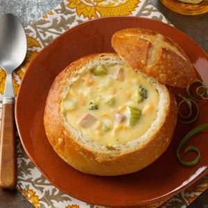 Priscilla's Vegetable Chowder Recipe from Taste of Home -- shared by Rhodes Bake-N-Serv, Jenna Jackson, Salt Lake City, Utah