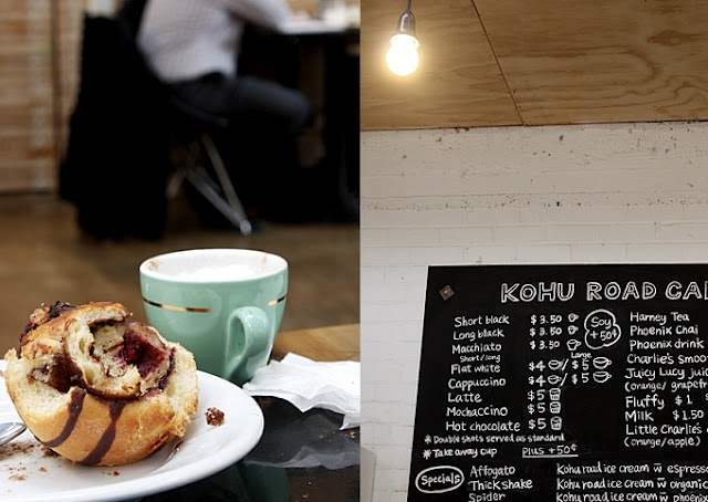 Kohu Road Creamery and Cafe, New Lynn, Auckland - Great caravan for the kids to play in plus great coffee for the adults.