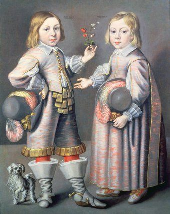 Hendrick Munninchhoven, Portrait of two Boys, aged four and three with a Small Dog, private collection