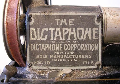 dictaphone label by bfrenchau, via Flickr