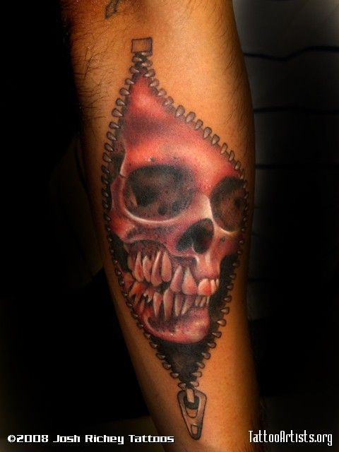 skull with zipper - Pesquisa Google | As que gostei ...
