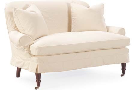 Lee Industries: C1006-02 Slipcovered Loveseat-you should be able to skirt this all the way to the ground