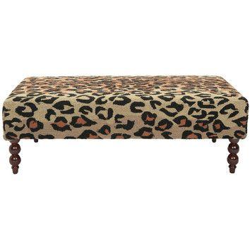 Leopard Print Ottoman Our Home Pinterest Ottomans