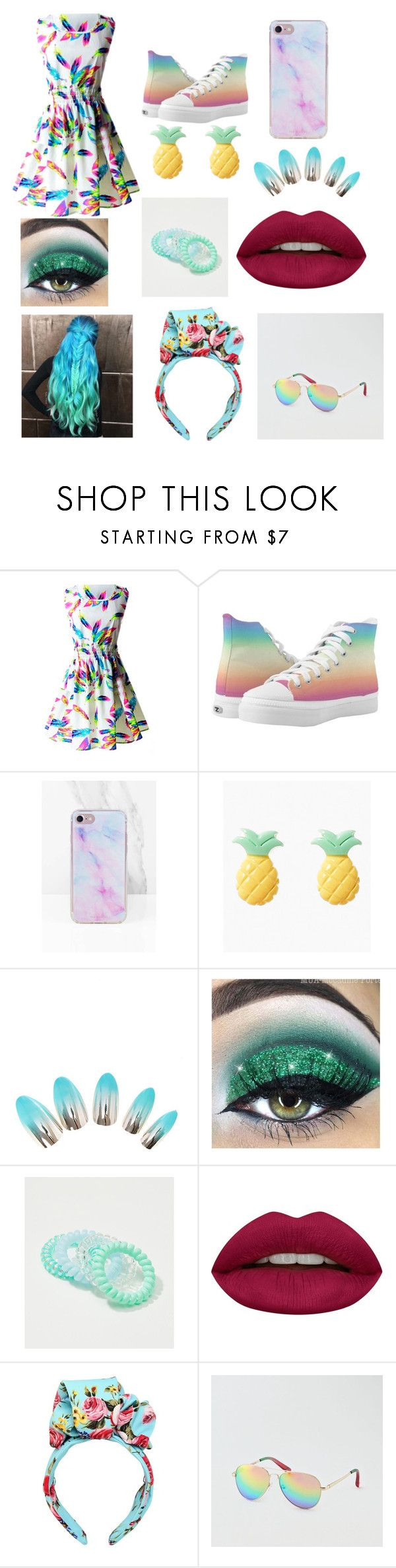 """I want this outfit 😍😍😍😍"" by phils-eyelash on Polyvore featuring LOFT, Huda Beauty, Dolce&Gabbana and American Eagle Outfitters"