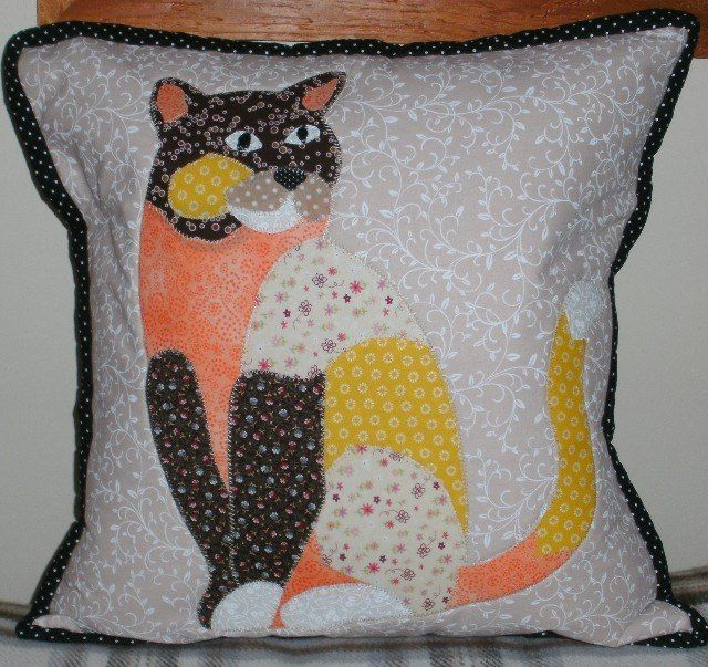 A fabulous Puurdi the cat cushion completed by one of our customers.