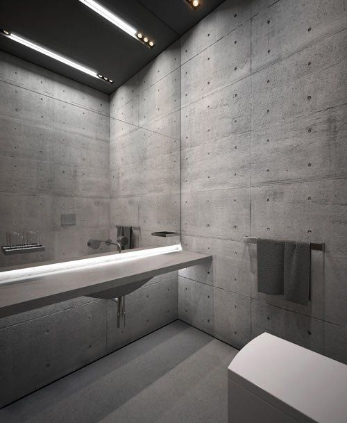 23 Amazing Concrete Bathroom Designs More