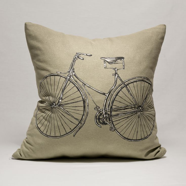 "Pillow ""Bicycle"" https://www.facebook.com/miss.machine.hand.made?ref=hl"